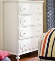 0411 Classic White 4 Drawer Chest - Assembled Dimensions: 38