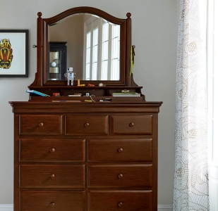 0410 Classic Cherry Dressing Chest - Assembled Dimensions: 50