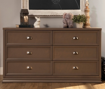 0505 Classic 6-Drawer Dresser - Assembled Dimensions: 61