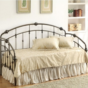 Item # 003MDB Casual Metal Daybed - Black hand-made metal twin daybed<br><br>Link spring required<br><br><b>Dimensions:</b>  Width: 80.75 x Depth: 41 x Height: 43.75
