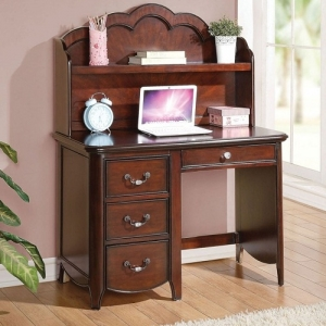 Item # 021HC Hutch - Finish: Cherry<br><br>Available in White Finish<br><br>Hutch Sold Separately<br><br>Dimensions: 42