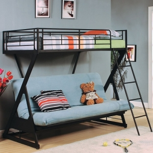 Item # 37134 Zazie Collection Twin Over Futon Bed