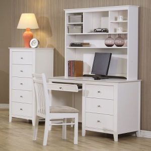 Item # A0035D - Finish: White<br><br>Hutch Sold Separately<br><br>Dimensions: 48W x 21.75D x 31H