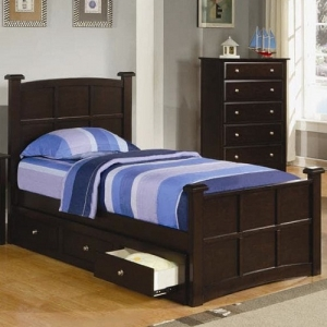 Item # 074FB Full Bed w/ Storage and Drawers