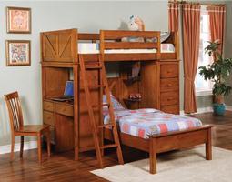 460133 Workstation Bunk Bed