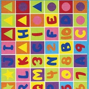 Item # 06 Letters and Shapes Rug - Color/Finish Multi-Colored<br> Material Nylon<br> Product Dimension 5'X7'