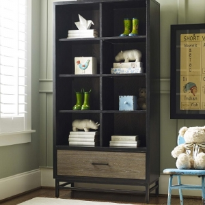 Item # 011BC Bookcase - Three adjustable wood shelves<br><br>One drawer<br><br>Self-closing drawers<br><br>