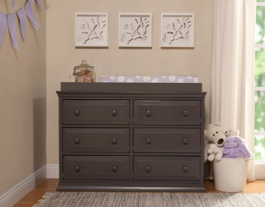 0540 Traditional 6 Drawer Dresser - Assembled Dimensions: 48