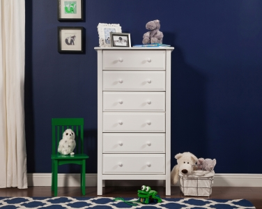 0437 Classic 6 Drawer Tall Chest - Assembled Dimensions: 28.375