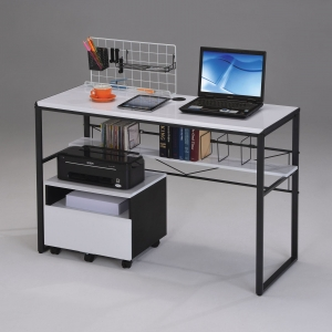 Item # 110D Desk - Finish: Black/ White<br><br>Dimensions: 47
