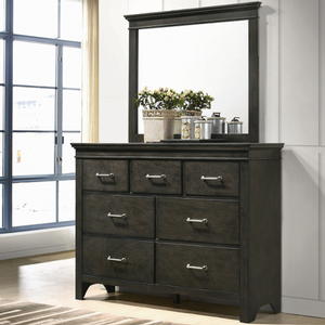 Item # A0012M - Finish: Bark Wood<br><br>Dresser Sold Separately<br><br>Dimensions: 38W x 1.75D x 42H