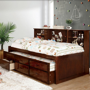 Item # A0001CPT - Twin Captains Bed<br>Available in Full Size<br>Finish: Cherry<br>Dimensions: 80L x 51W x 48H