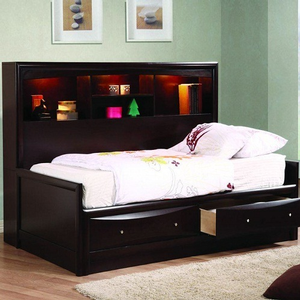 Item # A0006WD - Finish: Cappuccino<br>Available in Full Size, Queen Size & King Size Bed<br>77.75L x 51.5D x 50.5H