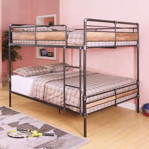 Item # A0005MBB - Finish: Sandy Black / Hand Brushed Dark Bronze<br><br>Bunkie Board Not Required<br><br>Supported Slats 22 Top, 22 Bottom<br><br>Dimensions: 83