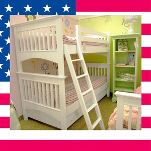 Item # US0007 Casey twin over twin bunk bed - CALL US TODAY TO FIND YOUR FAVORITE MATCH OF 34 COLORS!