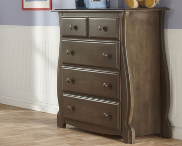 0440 Curved 4 Drawer Chest - Assembled Dimensions: 40