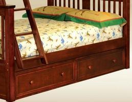 1602DP Two Under Bed Storage Drawers in Dark Pecan - *Bed Sold Separately*