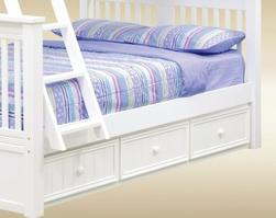 1931W Twin Trundle/ Storage Combo in White - *Bed Sold Separately*