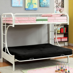 Item # A0002FBB - Finish: White<br>Upper Bed Clearance: 38H<br>Dimensions: 79
