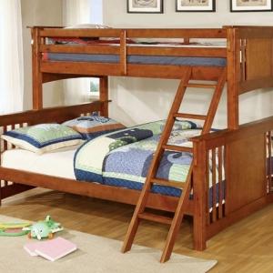 Item # A0020QB - Finish: Oak<br>Upper Bed Clearance: 33H<br>Dimensions: 86 1/2