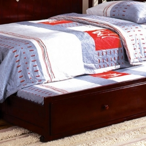 0038TR Twin Trundle - Solid Wood<br><Br>Cherry Finish<Br><Br>