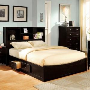 Item # 095FB Full Bed - Bookcase & 4 Drawers<br><br>Slat Kit Included<br><Br>