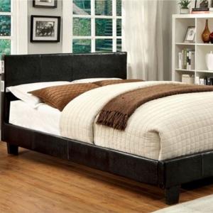 Item # 1040FB Full Platform Leatherette Upholstered Bed - Padded Platform Bed<br><br>