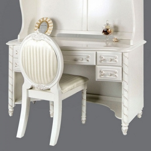 Item # 026D Pearl White Desk - *Hutch sold separately*