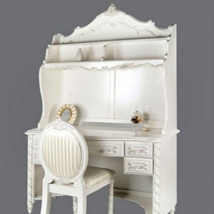 Item # 022HC Pearl White Hutch - Finish: Pearl White w/ Gold Accents<br><br>Desk Sold Separately<br><br>Dimensions: 47 1/4