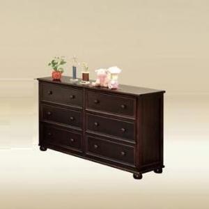 Item # 050- 1020WA Six Drawer Dresser in Walnut