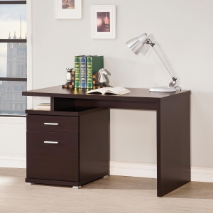 Item # 054D Contemporary Desk w/ Cabinet