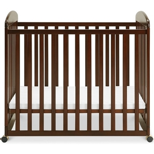 Item # 006MIN - DIMENSIONS<BR> Assembled Dimensions: 38.375in x 26.125in x 35in<BR> Assembled Weight: 26 lbs<BR> Slat strength: 149 lbs<BR> Interior Crib Measurements: 37.25inL x 23.75inW<BR> Front-rail measurements (top to floor): 31.25inH<BR>