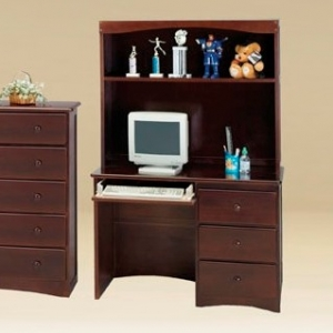 Item # A0048D - Finish: Walnut<br><br>Also available in White, Oak and Natural Color<br><br>*Hutch Sold Separately**<br><br>Dimensions: W43 7/8