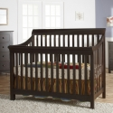 0163 Sleigh Slatted Crib - Assembled Dimensions: 55.5