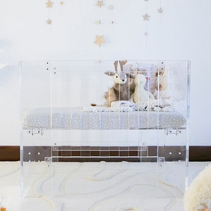 Item # 010LUX - Dimensions<BR> Assembled dimensions: 39.48inL x 25.28in W x 32in H<BR> Included mini crib mattress dimensions: 37.5in L x 23.5in W x 3.125in H<BR> Fits a US mini crib mattress (37.5 x 23.875in ) up to 5in thick<BR>