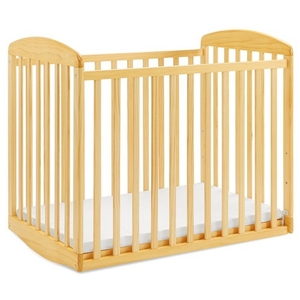 Item # 005MIN - DIMENSIONS<BR> Assembled Dimensions: 38.375in x 26.125in x 35in<BR> Assembled Weight: 26 lbs<BR> Slat strength: 149 lbs<BR> Interior Crib Measurements: 37.25inL x 23.75inW<BR> Front-rail measurements (top to floor): 31.25inH<BR>