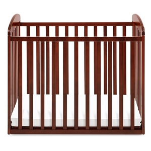 Item # 003MIN - DIMENSIONS<BR> Assembled Dimensions: 38.375in x 26.125in x 35in<BR> Assembled Weight: 26 lbs<BR> Slat strength: 149 lbs<BR> Interior Crib Measurements: 37.25inL x 23.75inW<BR> Front-rail measurements (top to floor): 31.25inH<BR>