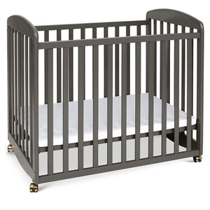 Item # 007MIN - DIMENSIONS<BR> Assembled Dimensions: 38.375in x 26.125in x 35in<BR> Assembled Weight: 26 lbs<BR> Slat strength: 149 lbs<BR> Interior Crib Measurements: 37.25inL x 23.75inW<BR> Front-rail measurements (top to floor): 31.25inH<BR>