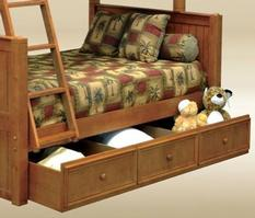 1931P Twin Trundle / Storage Combo in Pecan - *Bed Sold Separately*