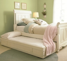 0059TR Trundle - Wheels on bottom allow for easy pull-out<br><br>Fits standard sized twin mattress<br><Br>Can be used as storage with two removable sliding storage trays included<br><br>