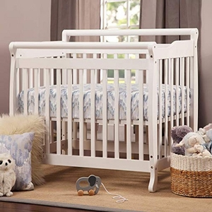 Item # 008MIN - DIMENSIONS<BR> Assembled Dimensions: 38.375in x 26.125in x 35in<BR> Assembled Weight: 26 lbs<BR> Slat strength: 149 lbs<BR> Interior Crib Measurements: 37.25inL x 23.75inW<BR> Front-rail measurements (top to floor): 31.25inH<BR>