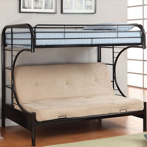 Item # A0001FBB - Finish: Black<br>Upper Bed Clearance: 38H<br>Dimensions: 79