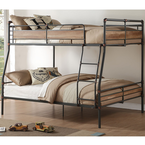 Item # A0004MBB - Finish: Sandy Black / Hand Brushed Dark Bronze<br><br>Bunkie Board Not Required<br><br>Slat System Included<br><br>Dimensions: 83