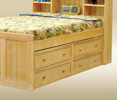 1801B Four Under Bed Drawers in Birch - *Bed Sold Separately*