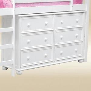 Item # 049- 1020W 6 Drawer Dresser Bead Board in White