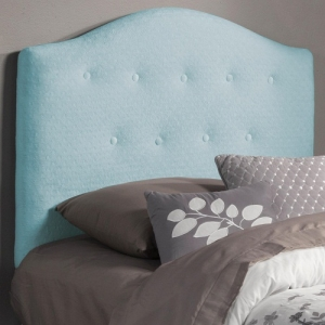 Item # 114HB Twin Button Tufted Upholstered Headboard - This button tufted headboard is wrapped in a soft blue fabric<br><br>