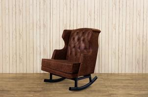 B1023 Leather Empire Rocker - Assembled dimensions: 29.375
