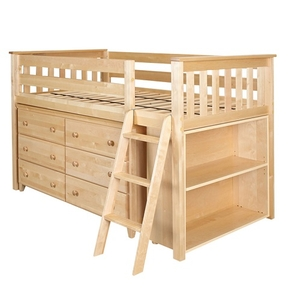 Item # JLB001 - ADDITIONAL INFORMATION<BR> Finish: Natural<BR> Bed Size: Twin<BR> Dimensions: L 99
