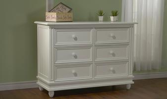 0563 Cottage Double Dresser - Assembled Dimensions: 50