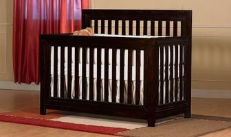 0164 Classic Straight Crib - Assembled Dimensions: 55